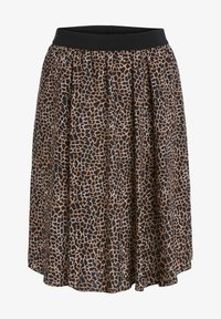 SET - A-line skirt - dark brown camel - 5