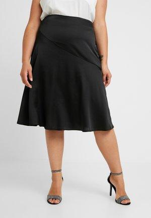 FRILL MIDI SKIRT - A-line skirt - black