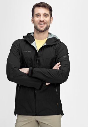 CONVEY TOUR HOODED JACKET MEN - Hardshelljacke - black