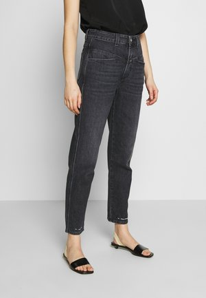 PEDAL PUSHER - Relaxed fit jeans - dark grey