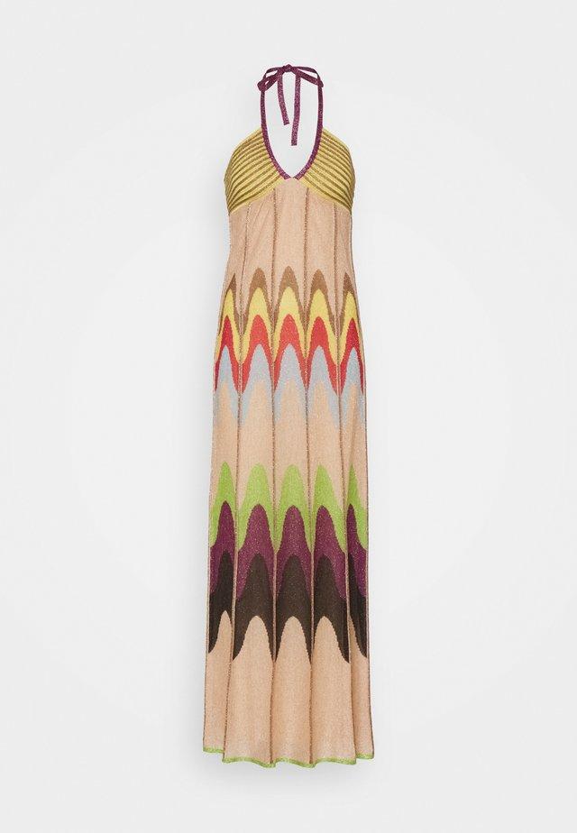 ABITO LUNGOSENZA MANICHE - Strickkleid - multicoloured