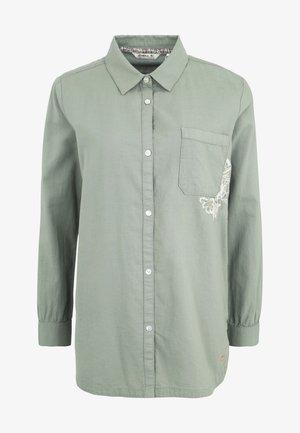 MORI - Button-down blouse - light green