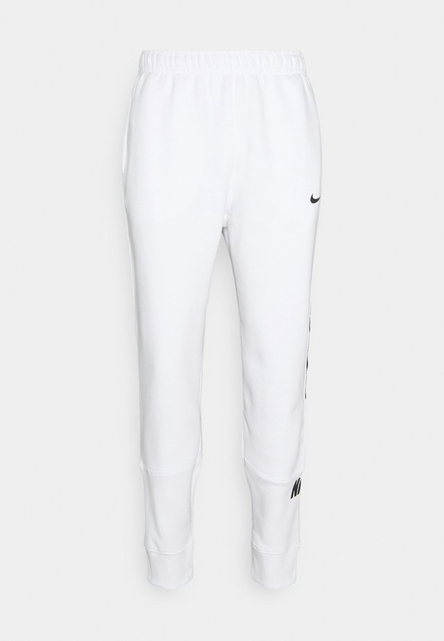 REPEAT - Pantalon de survêtement - white/black