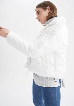 REGULAR FIT  - Winter jacket - white