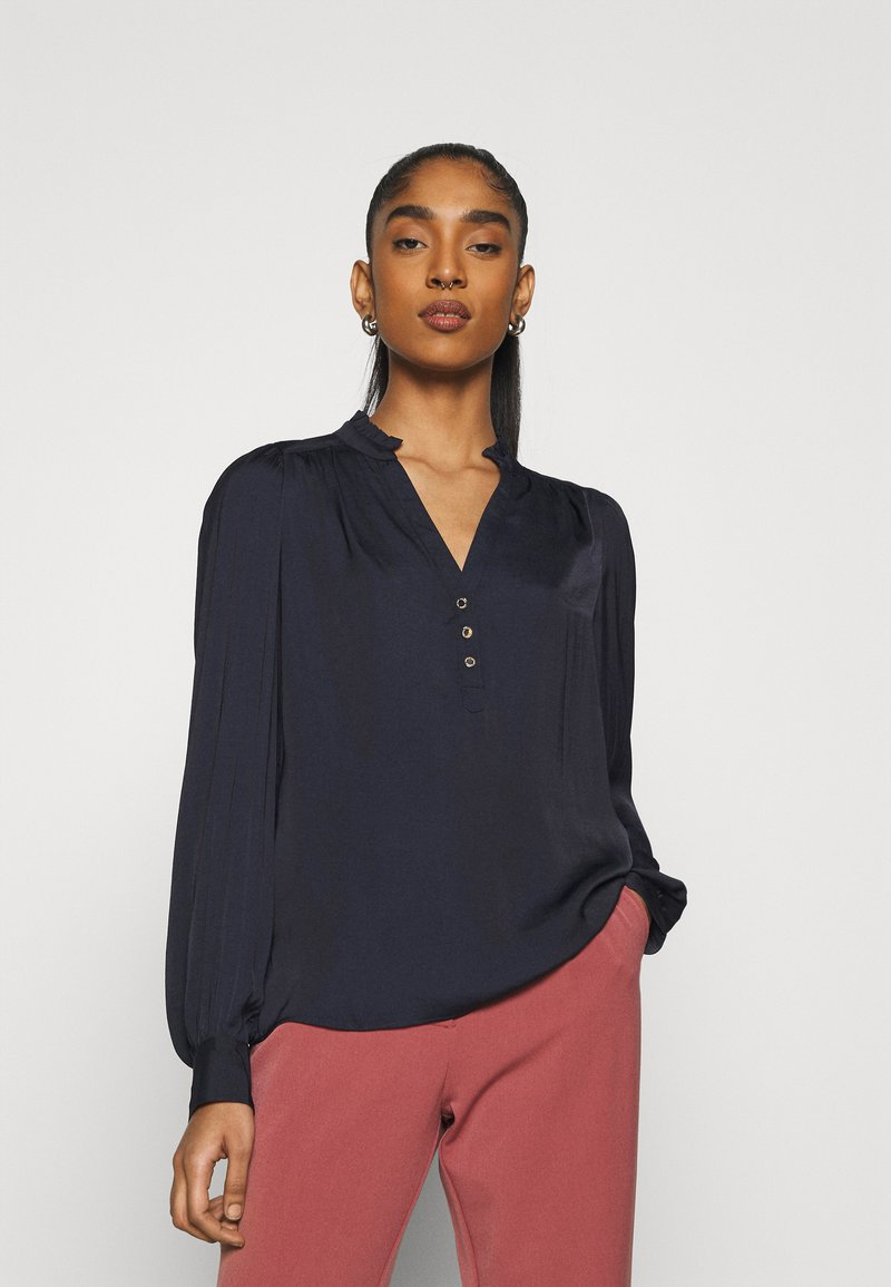 Morgan - OCHICHI - Button-down blouse - marine