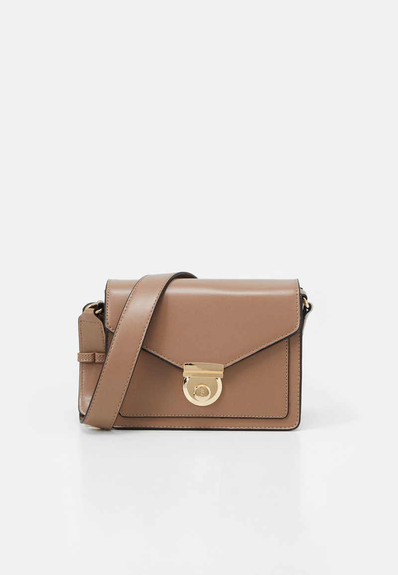Dorothy Perkins - STRUCTURED BOXY XBODY - Across body bag - nude
