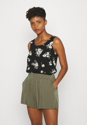 VMSIMPLY EASY TANK - Camicetta - black