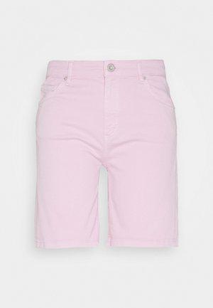 Denim shorts - bleached berry