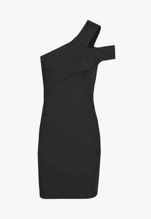 CROSS SHOULDER DRESS - Vestido informal - black