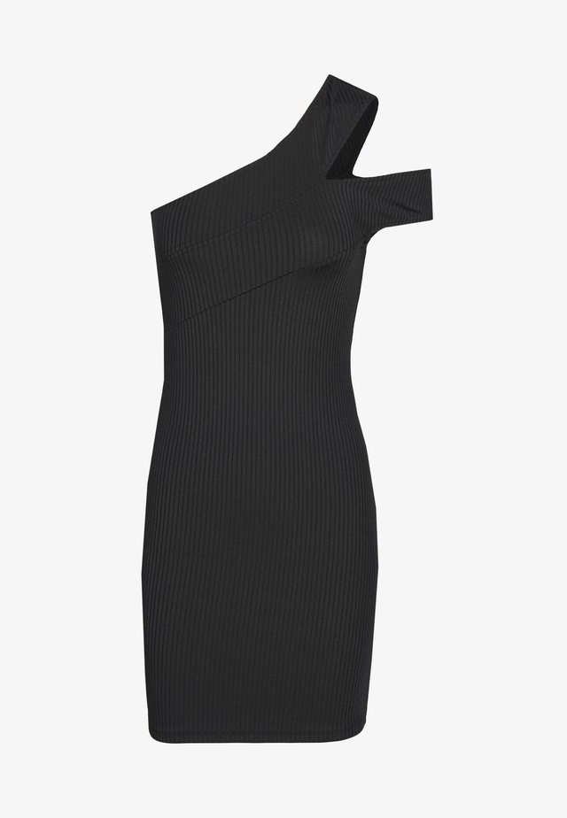 CROSS SHOULDER DRESS - Denní šaty - black