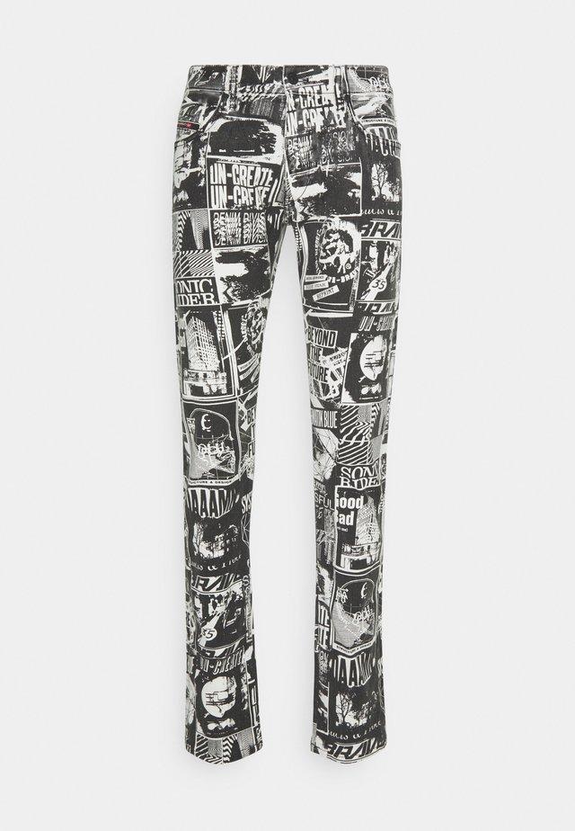 STRUKT - Jeans slim fit - khaki/black denim