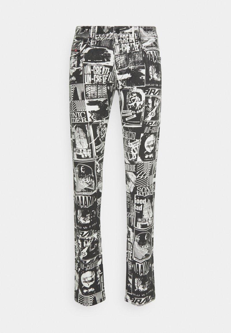 Diesel - STRUKT - Slim fit jeans - khaki/black denim
