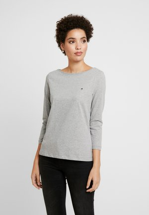 Langærmede T-shirts - light grey heather