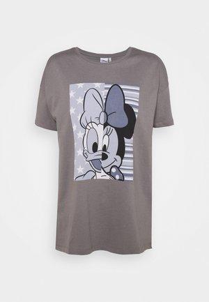 ONLDISNEY OVERSIZE LIFE SPLIT - Print T-shirt - steel gray