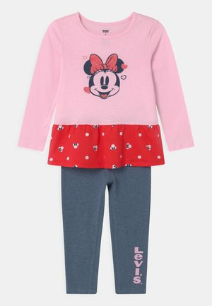 MICKEY MOUSE PEPLUM SET - Legging - pink lady