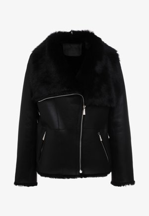 PHILIPPA JACKET - Lederjacke - black