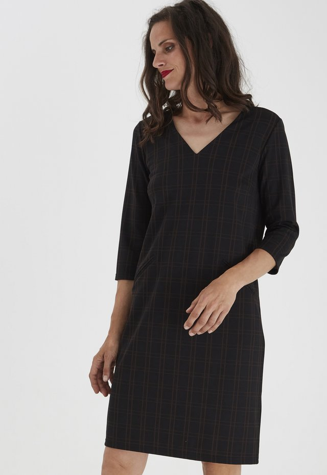 FRMECHECK - Jersey dress - black mix