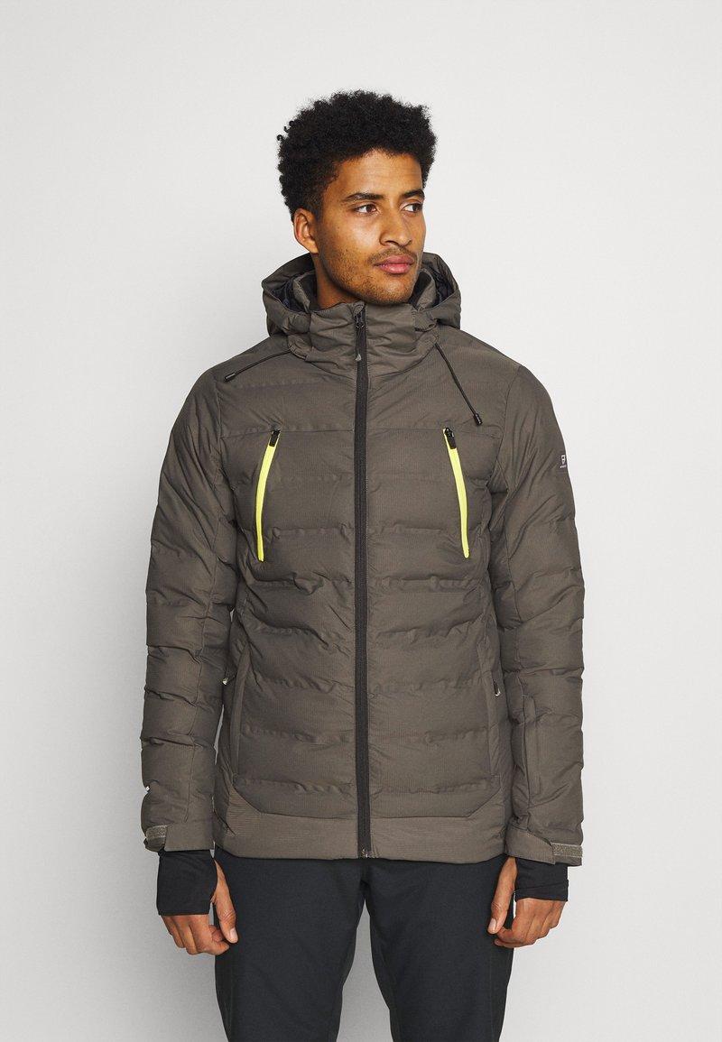 Brunotti - SAXON MENS SNOWJACKET - Snowboardová bunda - pine grey