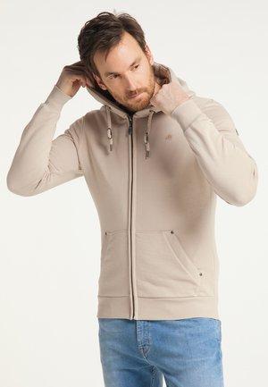 Zip-up sweatshirt - steinbeige