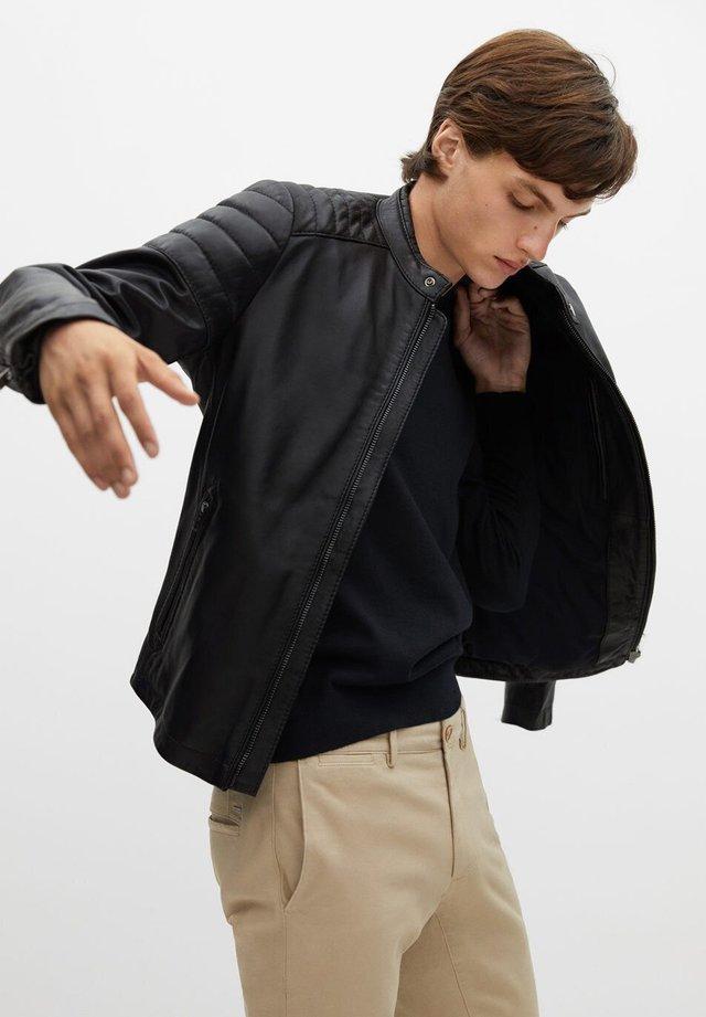 APOLLO7 - Leather jacket - noir