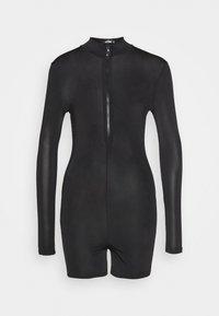 Missguided - LONG SLEEVE ZIP FRONT UNITARD - Jumpsuit - black - 0