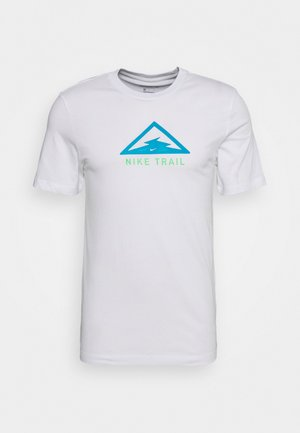 DRY TEE TRAIL - Print T-shirt - white