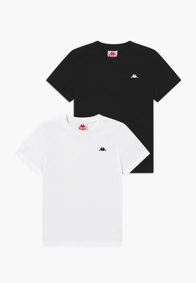 2 PACK - Basic T-shirt - bright white/caviar