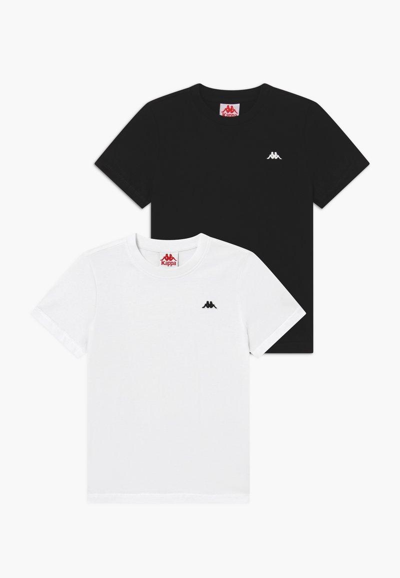 Kappa - 2 PACK - Basic T-shirt - bright white/caviar