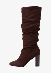 Dorothy Perkins Wide Fit - WIDE FIT KISS 70S LONG BOOT - High heeled boots - choc - 1