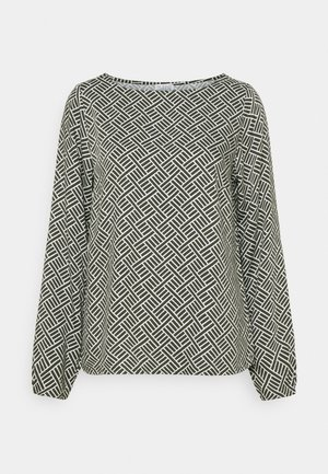 GRAPHIC BLOUSE - Long sleeved top - deep forest