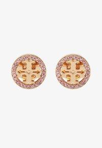 Tory Burch - LOGO CIRCLE EARRING - Earrings -  gold-coloured/vintage rose - 3