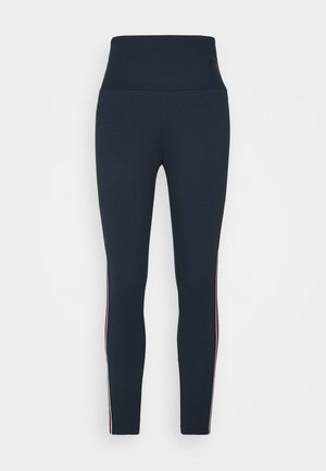 STRIPE TAPE - Leggings - Trousers - midnightblue