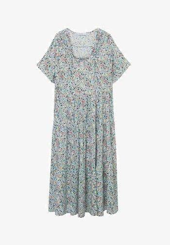 FLIESSENDES - Korte jurk - himmelblau