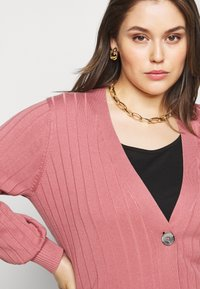 Simply Be - V NECK  - Cardigan - baked pink - 3
