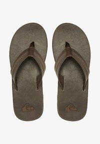 Quiksilver - T-bar sandals - brown/brown/brown - 0