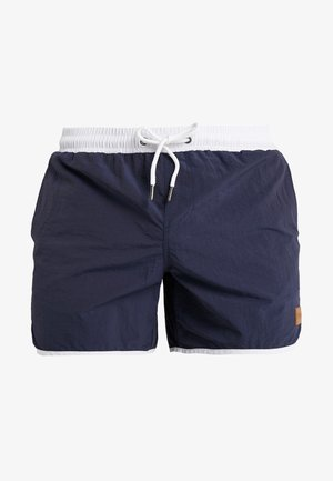 RETRO - Swimming shorts - navy/white