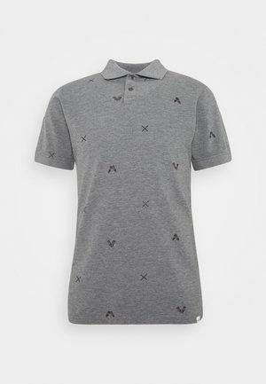 ART PRINT - Poloshirt - light grey
