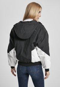 Urban Classics - Bomber Jacket - black/white - 2