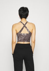 Abercrombie & Fitch - BARE CROSS BACK - Top - marble - 2