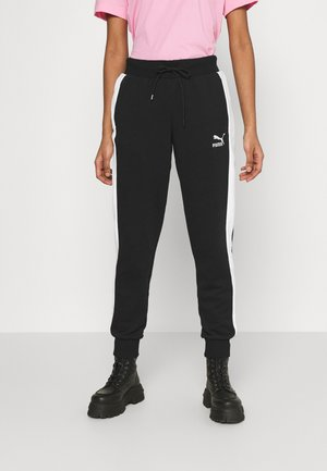ICONIC TRACK PANTS - Tracksuit bottoms - black