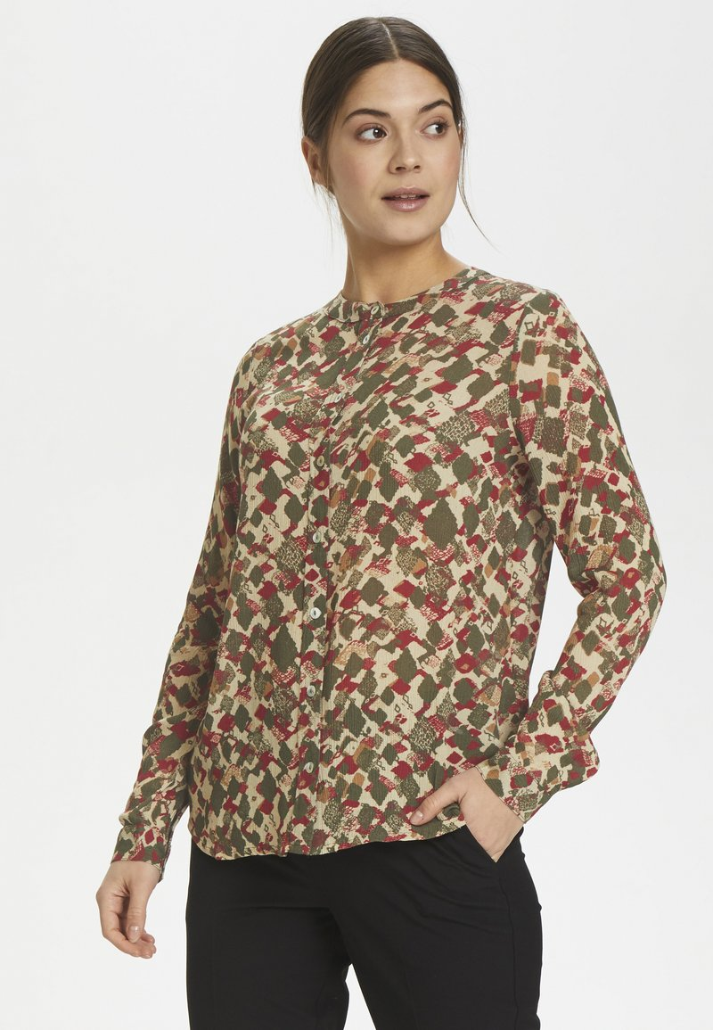 Kaffe - KAFELINE - Camisa - grape leaf