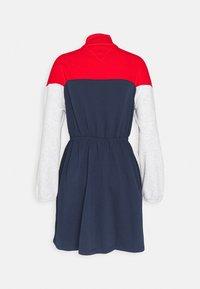 Tommy Jeans - COLORBLOCK MOCK - Day dress - twilight navy/multi - 1