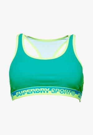 Sports bra - mottled blue