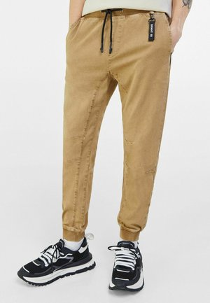 Jeans Tapered Fit - camel