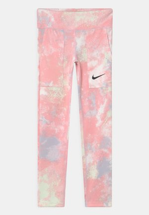 ONE - Legginsy - pink foam/white