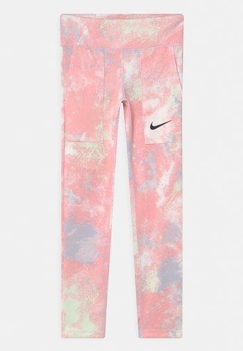 ONE - Leggings - pink foam/white
