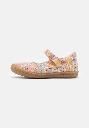 Ankle strap ballet pumps - cipria/multicolor