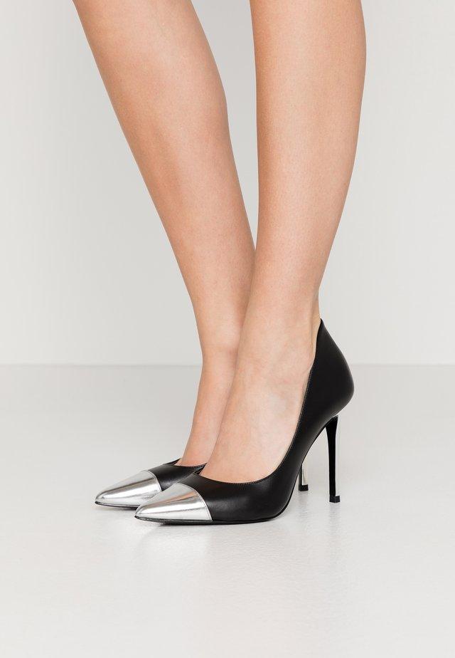 KEKE TOE CAP - High heels - black/silver