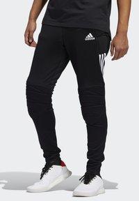 adidas Performance - TIERRO GOALKEEPER TRACKSUIT BOTTOMS - Verryttelyhousut - black - 0