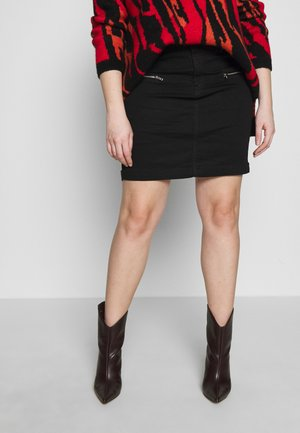SUPERSTRETCH SKIRT - Denim skirt - black